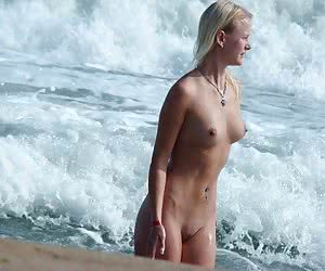 A nude babe at the Cap d'Agde