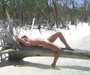 A nude bitch on the Tulum