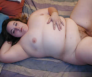 Fat young women with small tits laying on sofa