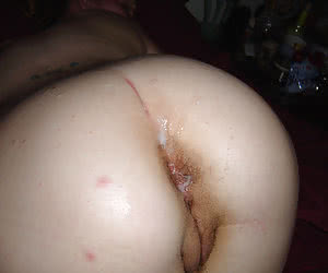 Creampie on ass set