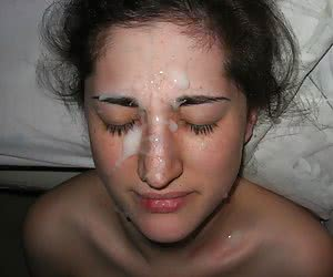 A chicks giving a blowjob and taking a facial collection