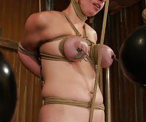 sexual slave tit fucking torture