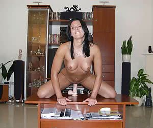 Amateur housewives playing with toys gall