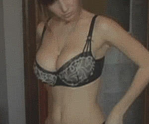 Undressing animated GIF