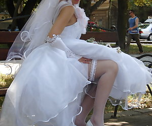 Crazy brides without any shame get undressed during wedding