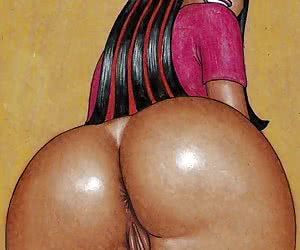 Cartoon whores with big asses prefer anal penetration