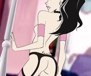 Cool threesomes and solos of sexy cartoon babes