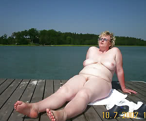 Chubby female nudists over 50 years old