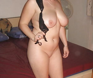 My new naughty a bit fat girlfriend undresses for my new camera before hot fucking.