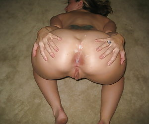 Anal and pussy creampie gall