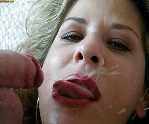 Wives getting big facial cumshots