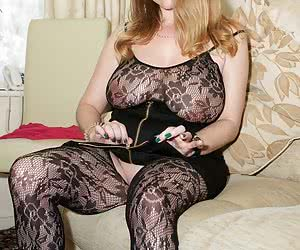 A slow seductive strip from Lily May in the lounge and her skirt and top are off she reveals a lace full length crotch l