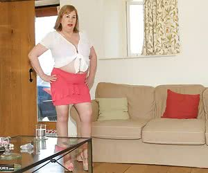 On Location in Yorkshire for this Shoot, Pics by Amateur Spy Guy, Lily May is in the lounge having fun with Mr G when Sp