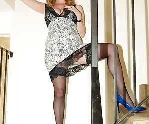 Yes its another set shot by Amateur Spy Guy in Yorkshire earlier this year of Lily May flashing on the stairs on her way