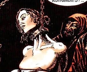 Medieval tortures in the comics `Adventures Of Laura`