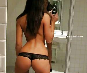 Stolen PC pictures of real ex girlfriend posing in the mirror