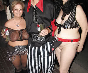 Crazy night party with mature women going wild and horny
