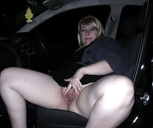 Mature car passengers waiting the driver to fuck them