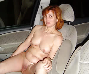 Naked housewives driving to tne nude beach in the night