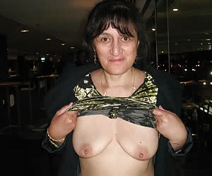 Older women showing their breasts after the midnight