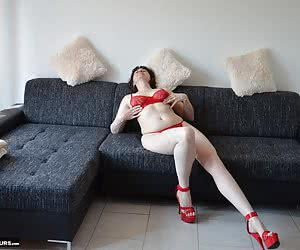 I love my hot red high heels.I have the matching red lingerie and Yes indeedIt is still dear to be but still naked.And s