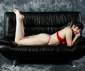 Photographed on the sofa from the front, back and even almost upside down.Yes something different in Poses.