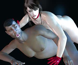 Interracial 3D sex