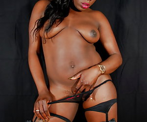 Ebony Petals, dark beauty showing her sexy body.