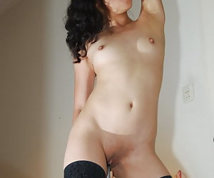 Kimberley, more vibrator masturbation pics of this nude Filipino porn model.