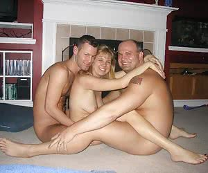 A ladies in anal MMF threesome photos