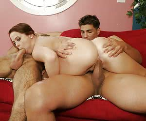 Nasty moms MMF threesome shots