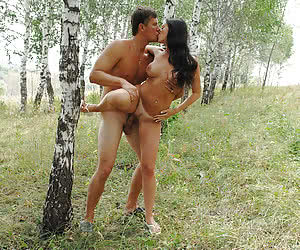 Sexy nudist couples having some fun