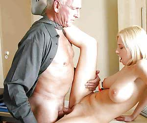Old gents skillfully seducing young ladies