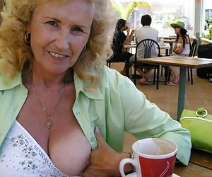 naughty mature outdoor