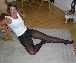My wife pantyhose feet 28y images
