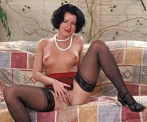 The women of all ages posing is very sexy pantyhose