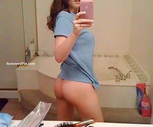 Leaked videos of horny girlfriend naked in the mirror