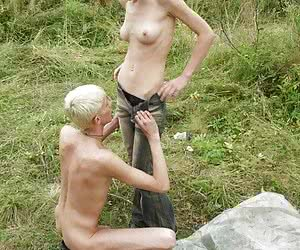 skinny couple fucking outdoors