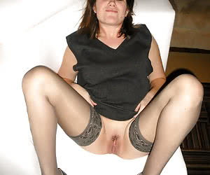 Housewife in stockings shots