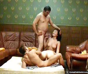 Horny swingers doing crazy things in private party