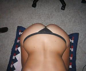 Homemade and vacation shots of female amateurs in thongs