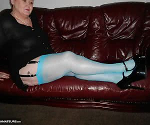 I am lovin these fab blue stockings and I hope they make you horny as well - enjoy.