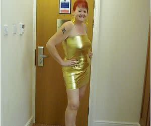 I love this sexy slinky little gold dress and I hope you will love it as well.