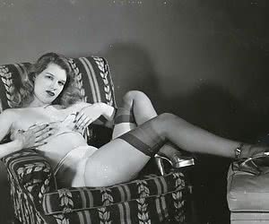 A set of unforgettably hot pictures featuring vintage lingerie girls perform really hot showoffs in heat