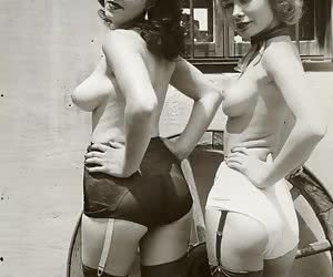 All these naughty chicks look very attractive and hot when posing in sexiest vintage lingerie