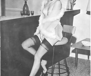 Excited females lose control on showing not only vintage lingerie but their silky legs as well