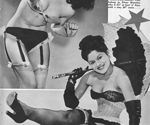 Gals tease you while posing in sexy retro lingerie on the most wanted pictures of their sort