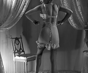 Playful beauties know which way they should pose in retro lingerie in order to make you lose control