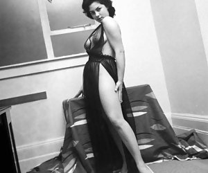 Really horny gals make unforgettable showoffs in their sexy vintage lingerie before the camera