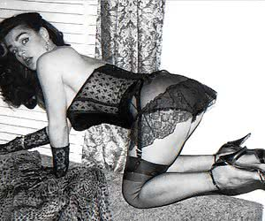 These ladies are very sexy and like the idea of posing in vintage lingerie one more time now